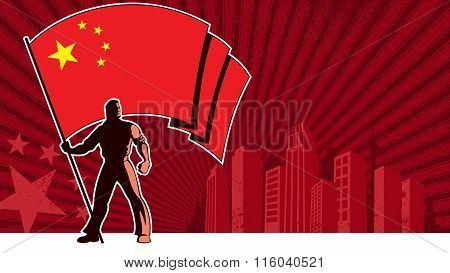 Flag Bearer China Background