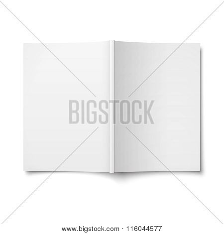Blank opened magazine cover template.