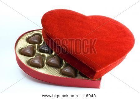 Velvet Box With Chocolates