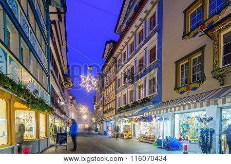 Painted Houses In Appenzell