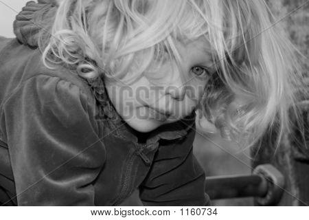 Blond Toddler Girl Head Shot 4