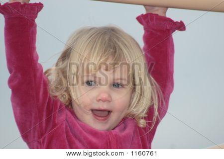 Blond Toddler Girl At Playground 1
