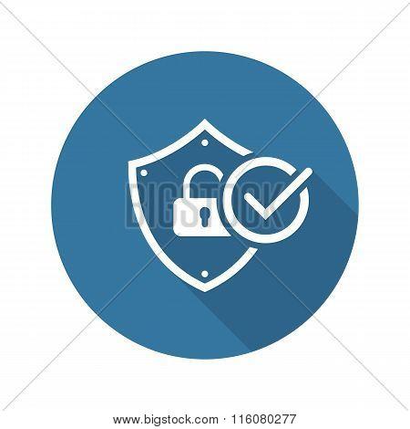 Security Status Icon. Flat Design.