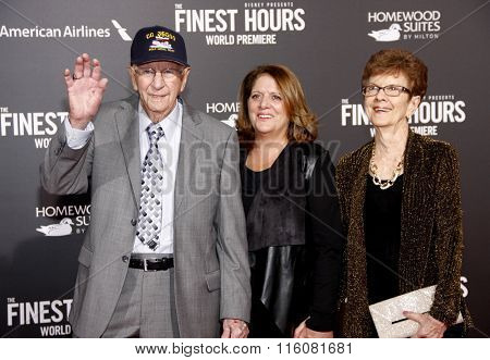 Dorothy Aufiero and Andy Fitzgerald at the World premiere of 'The Finest Hours' held at the TCL Chinese Theatre in Hollywood, USA on January 25, 2016.