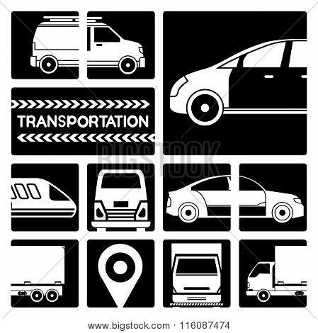 transportation, vehicle icons