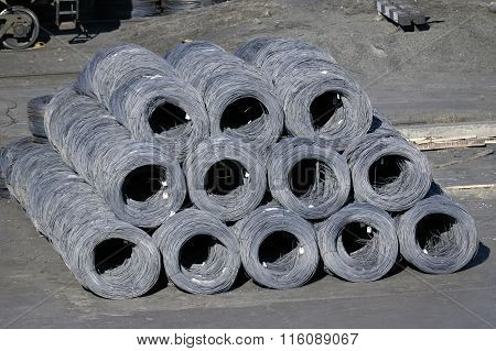 Group Of Steel Coils