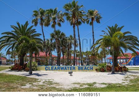 Clearwater Beach Welcome Sign, Florida