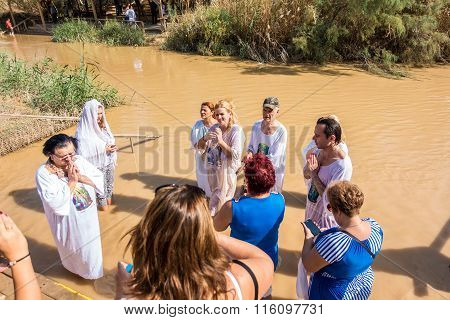 Christian Baptism In Jordan River