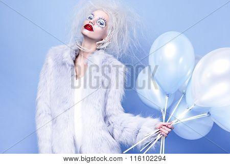Fashin Clown. Beauty face.
