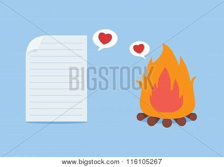 Paper have foolish love with fire