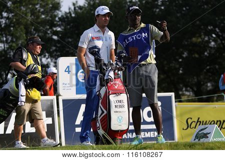 Lionel Weber At The Golf French Open 2015