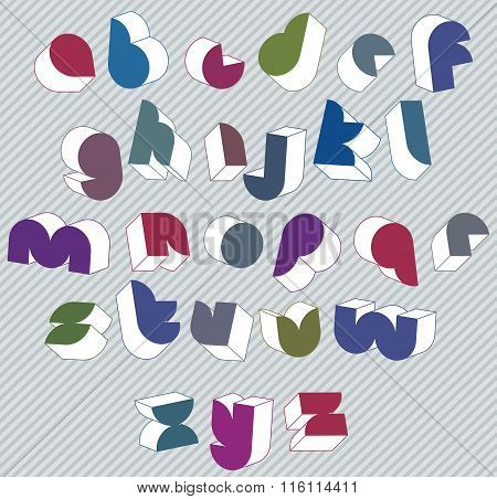 3d futuristic font simple alphabet letters made great font for design advertising web and headlines.