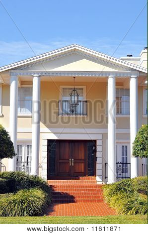 Elegant Entrance to Beautiful Colonial Home