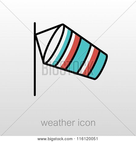 Windsocks Hanging Airport. Meteorology. Weather