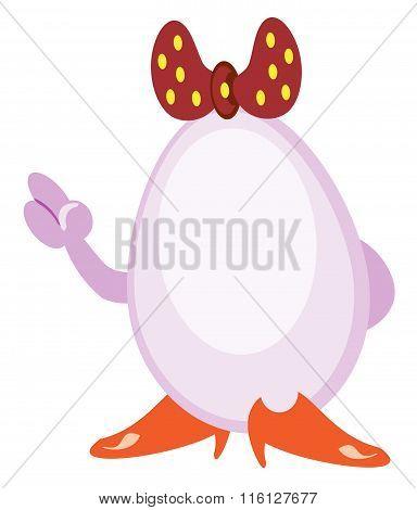 An egg is a girl. eps
