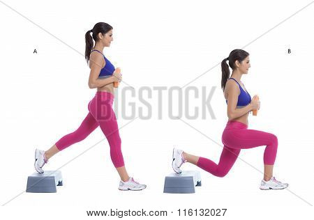 Step Lunge With Disc Weight