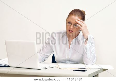 Young Stressed Business Woman