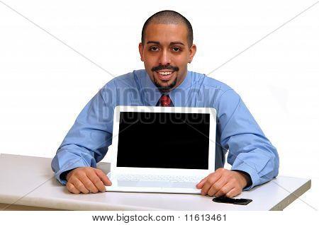 Young Hispanic business man