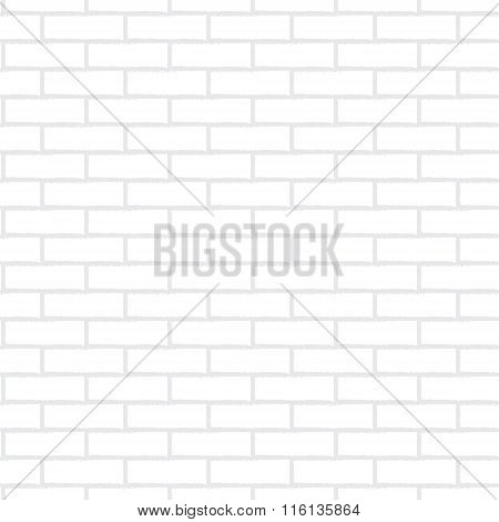 Vector Seamless Texture Of White Brick Wall