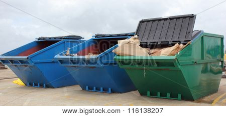 Industrial waste skips