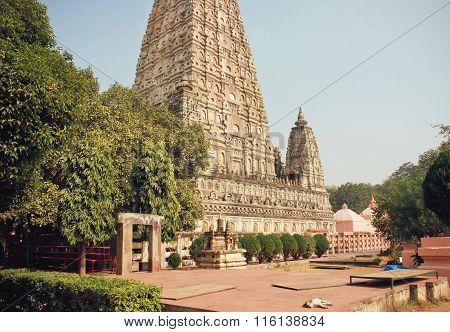 Famous 3Rd Century Bc Buddhist Mahabodhi Temple - Great Awakening - In Bodhgaya, India