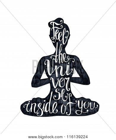 Yoga Lettering On Black