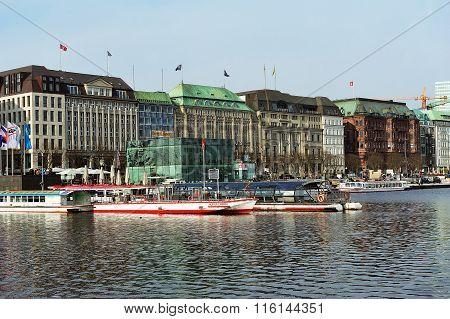 Alster Pier, Hamburg, Germany