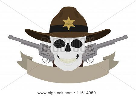 Wild west sheriff emblem