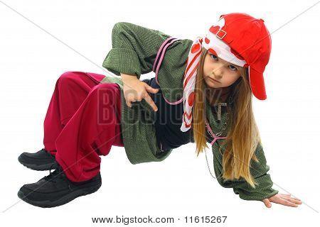 little girl dancing hip-hop