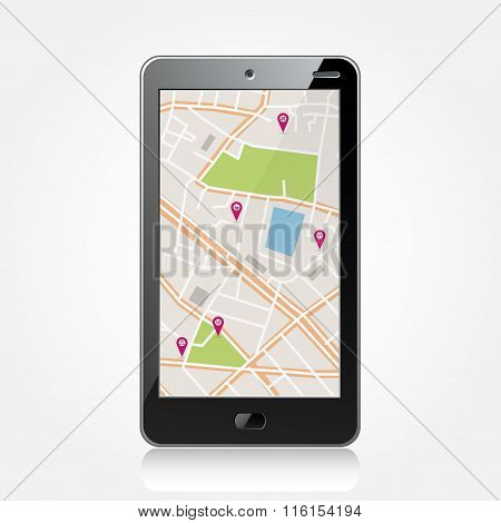 Smartphone with navigator