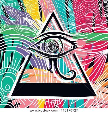 Horus Eye Abstract Art