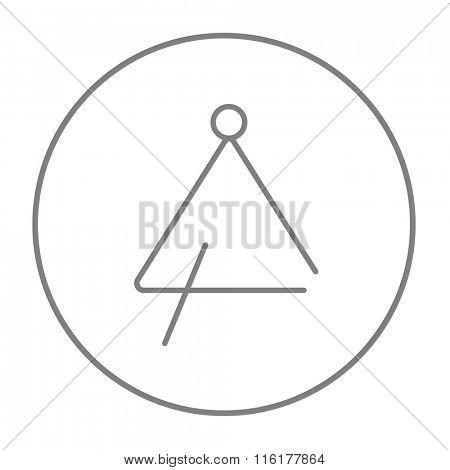 Triangle line icon.