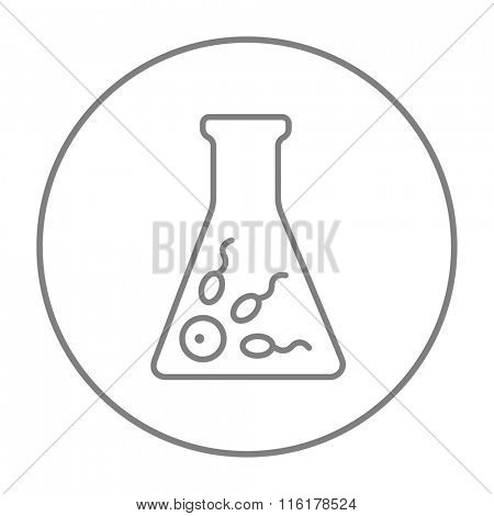 In vitro fertilisation line icon.
