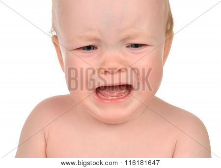 Small Child Baby Girl Toddler Sad Crying Isolated