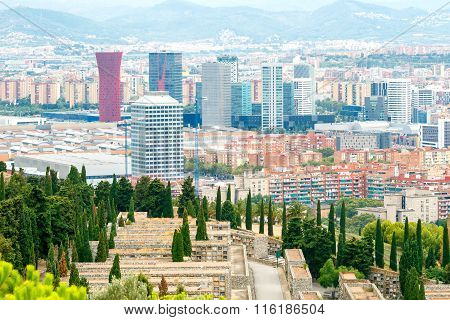 Barcelona. Columbarium Over The City.