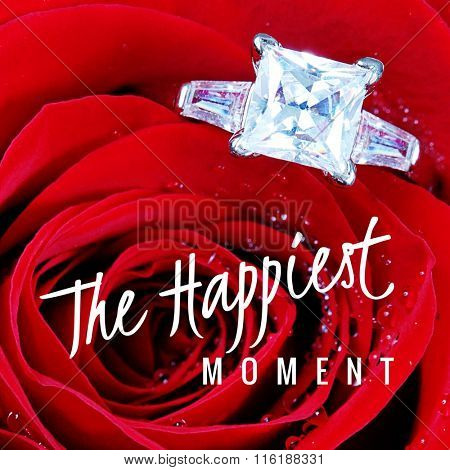 Inspirational Typographic Quote - The Happiest Moment