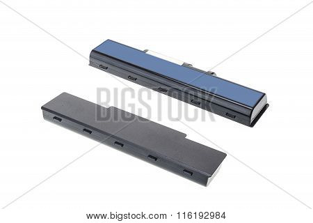 Black Old Battery Of Laptop Isolated On White