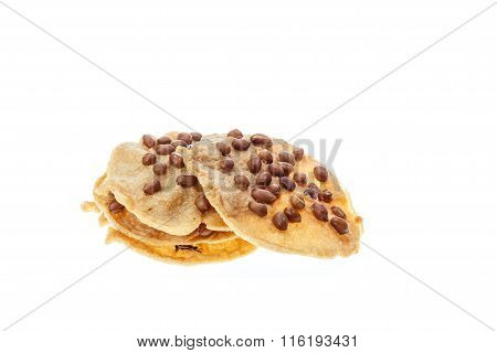 Traditional Thai Snack, Fried Bean Isolated On White