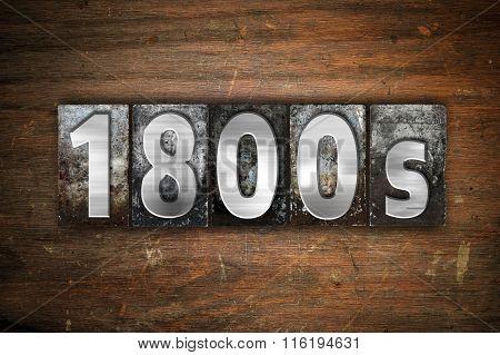 1800S Concept Metal Letterpress Type