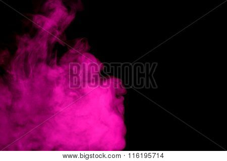 Abstract Purple Smoke Hookah.