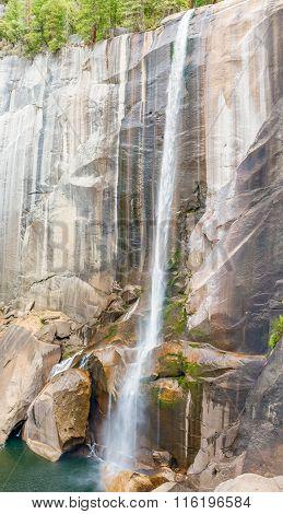 Vernal Waterfall In Yosemite National Park In California, Usa