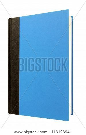 Light Blue Hardcover Book Front Cover Upright Vertical Isolated On White