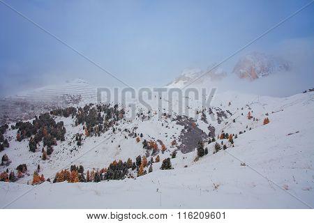 Mountain near Campitello di fassa, Dolomites, Italy