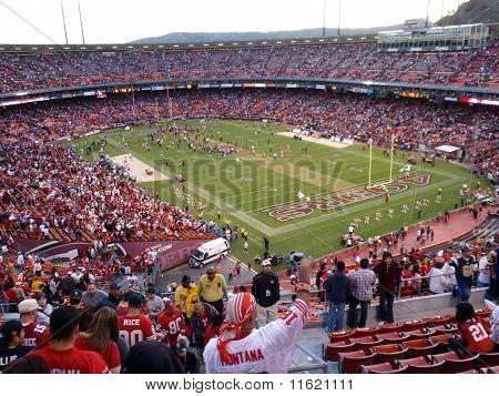 Fans Cheer As 49Ers Celebrate Win On Field