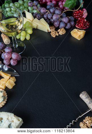 White Wine And Snacks