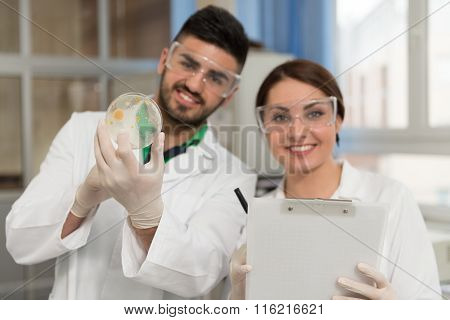 Students Scientists Working In Lab