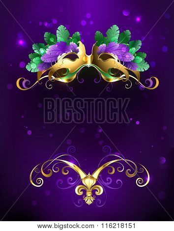 Mardi Gras Mask Of Bright Feathers