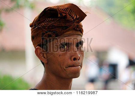 Hindu Man portrait Bali