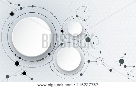 Abstract Molecules Technology Connection Background
