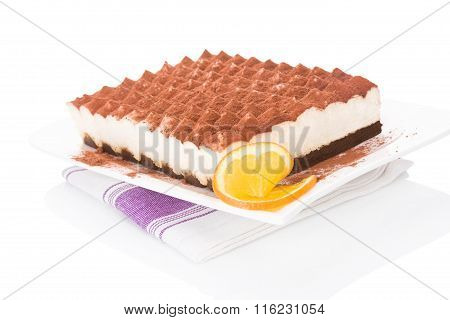 Delicious Tiramisu Dessert Isolated.